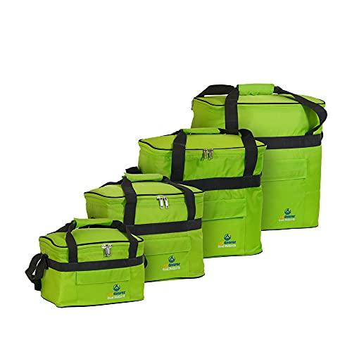outdoorer Kühltasche Cool Butler 15 - grün, mit Außentasche, Faltbare Isoliertasche