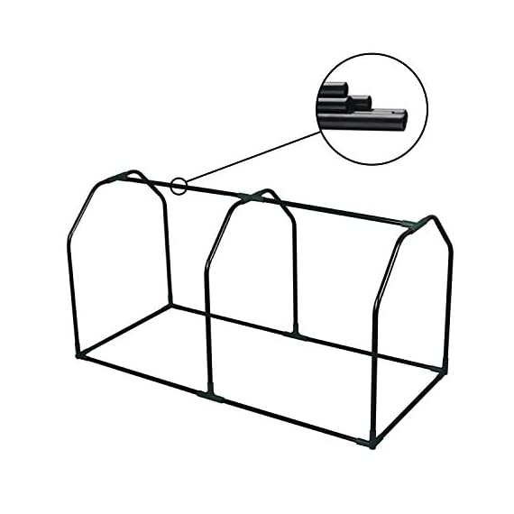 """Lynslim mini greenhouse, 48"""" x24x 21. 6"""",pe cover,large zipper doors,indoor outdoor garden green house flowerpot cover 7 high quality:environmentally friendly pe material, waterproof and sun-drying, good thermal insulation effect, non-toxic and tasteless,strong and durable. Excellent light penetration rate ensures adequate sunlight and heat preservation. It will considerably extend your planting time. Mini sised greenhouse: 48""""x24x""""21. 6"""", enough space for your houseplant ,plant pots & seed beds. Zipped doors: zipped doors is easy to access as well as good ventilation and humidity."""