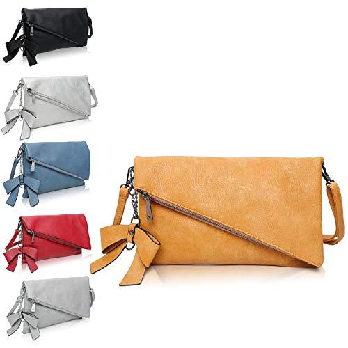 Clutch 2 en 1 – Pequeño bolso elegante de noche – Bolso de hombro para mujer – Correa desmontable – Incluye lazo