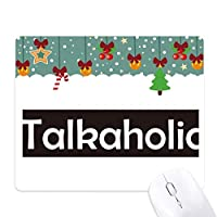 talkaholicスタイリッシュワード ゲーム用スライドゴムのマウスパッドクリスマス