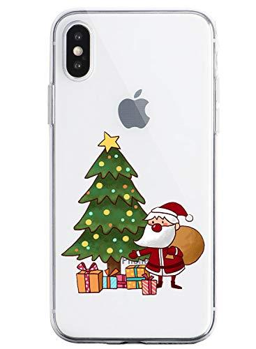 Oihxse Case Compatible Para Realme 3 Pro, Etui en Silicone Souple Ultra Mince Transparente Crystal Coque Motif de Mignon Noël Christmas Snowflake Prot
