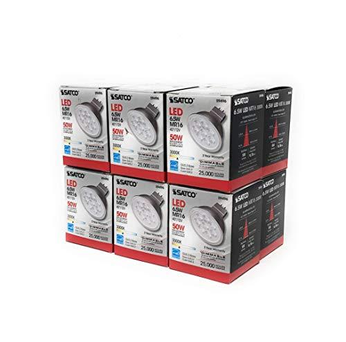 Satco S9496 12 Pack 6.5MR16/LED/40'/30K/12V 3000K