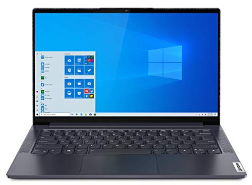 Lenovo Yoga Slim 7 - Ordenador Portátil 14' 4K (Intel Core i7-1165G7, 16GB RAM, 1TB SSD, Intel Iris Xe Graphics, Windows 10 Pro), Gris - Teclado QWERTY Español