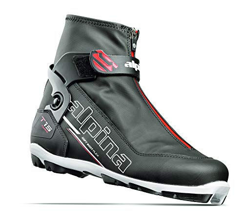 Alpina Sports T15 Cross-Country Touring Ski Boots, Black/White/Red, Size 44
