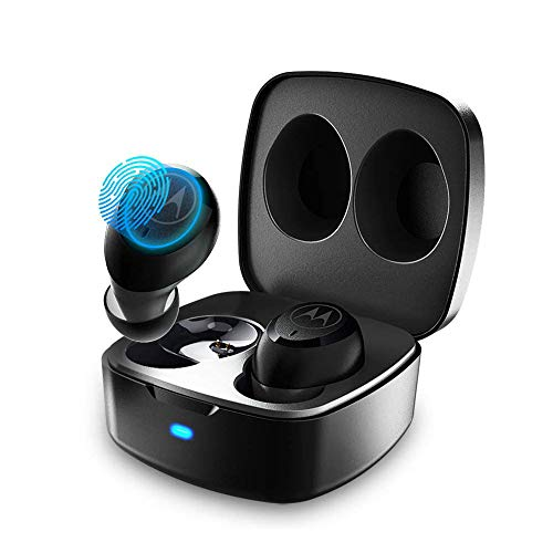 Motorola Vervebuds 100 - Bluetooth In-Ear Kopfhörer (kabellos) - 14 Std - IPX5 Waterproof - Kompatibel mit Alexa, Siri und Google Assistant - Schwarz