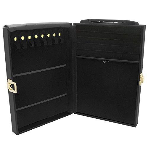 Gems on Display Medium Jewelry Attache Black Carrying Case