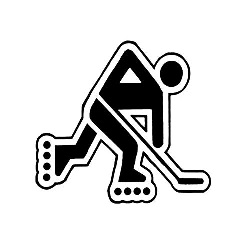 Fahrzeug-Autoaufkleber Ski Race Hockey Sport Dekor Auto Aufkleber Grafik Vinyl Silhouette Zubehör 13,4 * 12,5 CM 2 Stück