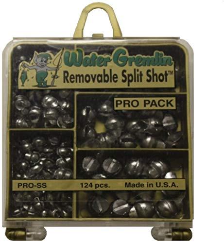 Water Gremlin Removable Split Shot Pro Pack, 48ea/BB, 36ea/3/0, 16ea/7, 12ea/5, 12ea/4, Multi-2