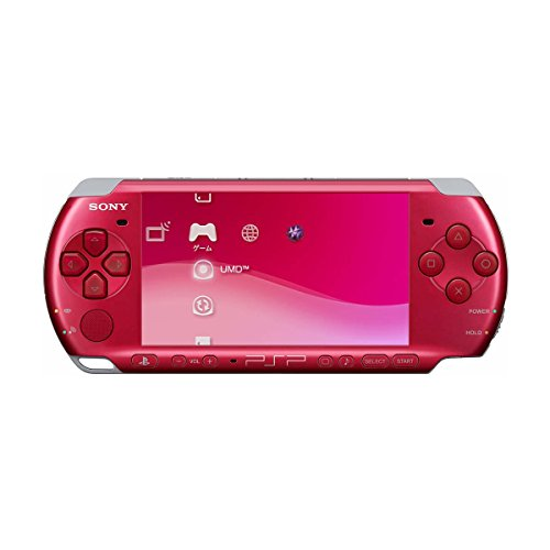 Sony PlayStation Portable (PSP) 3000 Series Handheld Gaming Console System - Red (Renewed)