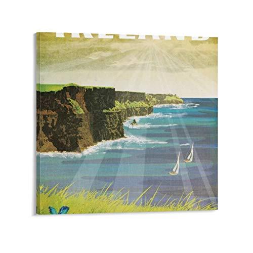 xiaochouyu Poster sur toile « Places Europe Irlande » de Missy Ames - Ireland Cliffs Of Moher - Décoration murale moderne pour chambre de famille - 30 x 30 cm
