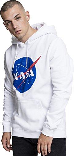 Mister Tee NASA Sudadera con Capucha, Hombre, Blanco, Large