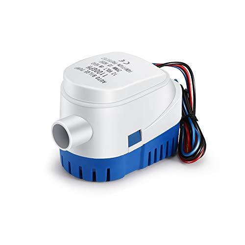 Porcyco Bilgepumpen Wasserpumpe 12V 1100GPH Automatische Tauchpumpe 12v Marine Tauch Bilge Auto Silent Flüssigkeitspumpe Wasserpumpe für Boote, Teiche, Pools