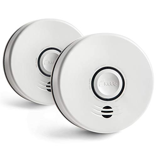 Kidde P4010DCSW WireFree Interconnect Lithium Battery Powered 2Pack smoke alarm white