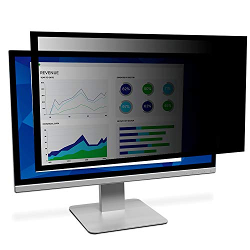 """Framed Privacy Filter for 24"""" Diagonal Widescreen Monitor, Protects your confidential information, Black out side views (16:10) () - 3M PF240W1F"""