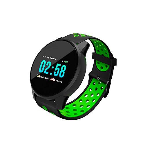 Redlemon Smartwatch Reloj Bluetooth con Pantalla Táctil a Color, Resistente al Agua, Notificaciones de Mensajes y Redes Sociales, Podómetro Monitor de Ritmo, Cardiaco. Android y iOS, Incluye 3 Correas