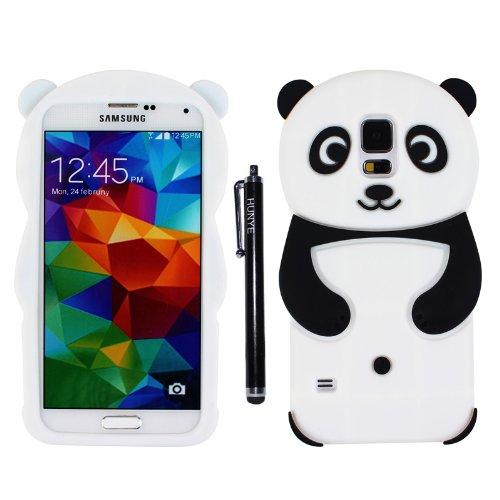 Hunye 3D de silicona Panda funda con tapa para Samsung Galaxy S5 ...