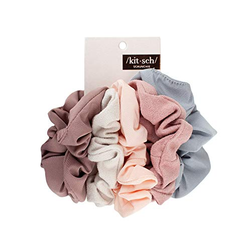 (33% OFF) 5 Pack Kitsch Matte Scrunchies for Hair $7.99 Deal