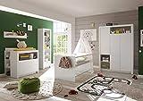 lifestyle4living Babyzimmer Komplett-Set in weiß, Babyzimmer Komplettset besteht aus 4 Teilen, Babyzimmer Set für Jungen und Mädchen