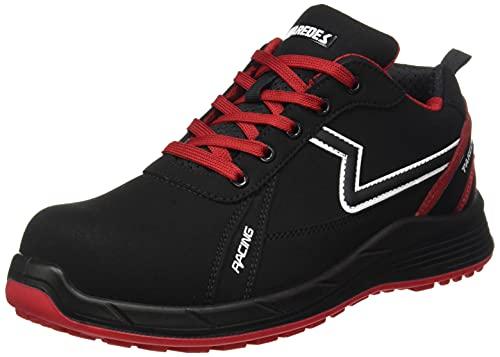 Paredes Alonso, Zapato Industrial Hombre, Negro y Rojo, 42 EU