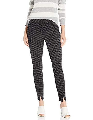 NYDJ Women's Misses Skinny Pull-ON Pants in Ponte Knit, Charcoal Diamond, 18