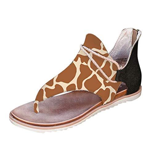 Camouflage Drapeau Tongs, GreatestPAK Femmes d'été Patchwork imprimé Plage Casual Appartements Sandales Grande Taille Fermeture éclair Chaussures Vintage