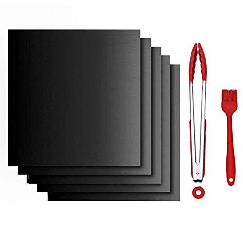 IWILCS Antihaft Grill-und Backmatte, Dauerbackfolie für Backofen, Backmatte für Holzkohle & Backen, Super dick, Wiederverwendbar Grillmatten(400 * 330mm)