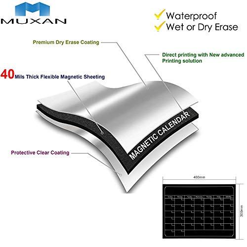 Pizarra adhesiva de Muxan, lámina de pizarra magnética, extraíble, calendar, adhesivo de...