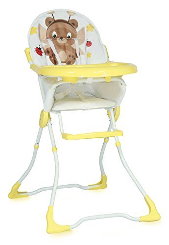 Lorelli 10100321823 Chaise Haute pour Bébé Marcel Jaune