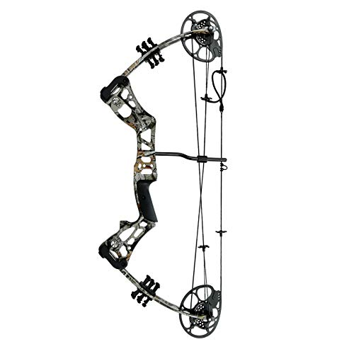 Piidot Compound Bow Set 15-45lbs for Teens with Archery Hunting Equipment Max Speed 320fps, 15-45lbs, Adjustable, Right Hand (Camo, 15-45lbs)