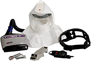 3M PAPR Respirator, Versaflo Powered Air Purifying Respirator Kit, TR-600-ECK, Easy Clean, Disposable Hood, Pharmaceutical, Food Safety, Painting, and Lead Battery Manufacturing Recycling