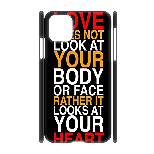 Desconocido Abs Shell Men Compatible with 6.7 Inch iPhone 12Pro MAX Print Letter