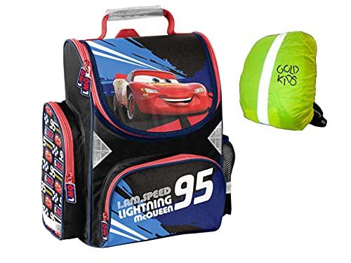 Cars Disney Autos Schulranzen Rucksack Kinderrucksack Ranzen Junge Trageriemen gepolstert DIN A4