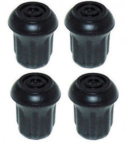 "Pack of 4 - 1/2"" Heavy Duty Rubber Tips for Walking Sticks, Canes, Crutches & Walkers"
