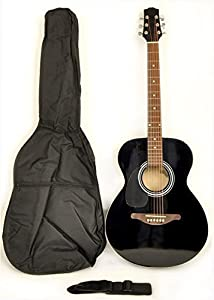 SX Mentor VT LH BK Left Handed Acoustic Electric Guitar