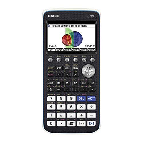 Casio FX-CG50 Calcolatrice Grafica senza CAS con Display a 65.000 Colori, Grafici 3D e Alimentazione a Batteria (4 x AAA)