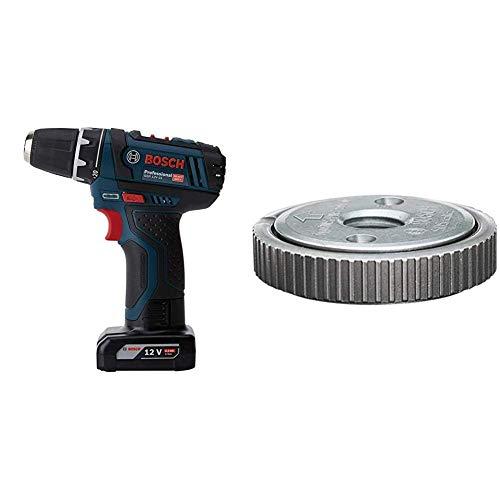 Bosch Professional GSR 12V-15 - Taladro atornillador a batería + Bosch Home and Garden 1 603 340 031 Bosch 031-Tuerca de sujeción rápida-(Pack de 1)