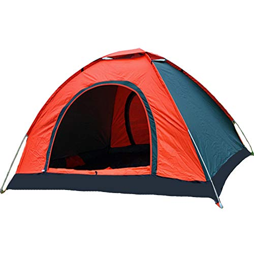 Automatic Pop Up Tent 3-4 Person Instant Backpacking Camping Tent Waterproof Windproof UV Protection for Outdoor Beach Traveling Hiking Camping Hunting Fishing Orange