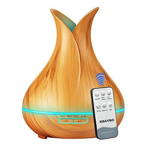 potente para casa Aceite esencial difusor de aroma humidificador ultrasónico 400ml, vapor frío, LED de 7 colores, 4…