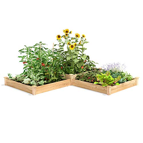 Greenes Fence RC4T4S24B Two Tiers Dovetail Raised Garden Bed