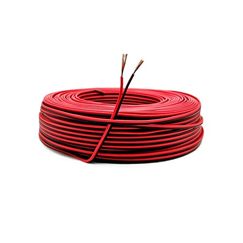 22AWG Cable Electronica,0,33mm2 Alambre Cobre Estañado,Cable Rojo Negro de PVC de 2...