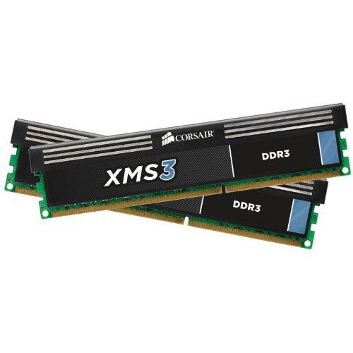 Corsair CMX16GX3M2A1333C9 XMS3 16GB (2x8GB) DDR3 1333 Mhz CL9 Performance Desktop Memory