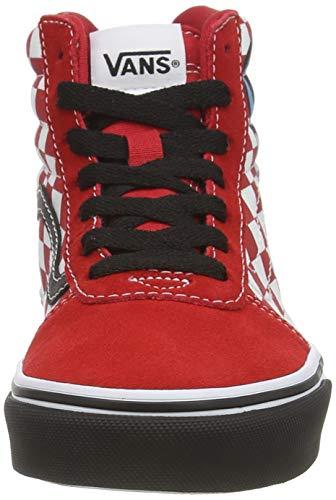 Vans Ward Hi Suede/Canvas, Scarpe da Ginnastica Unisex-Bambini, Dino Bonez Red White, 34 EU