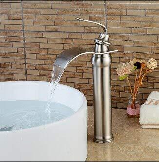 BDWS Nuovo arrivo cascata lavabo rubinetto rubinetto del bagno oro e-olio bronzo lucidato rubinetto del lavandino miscelatore lavello montato sul pontenichel