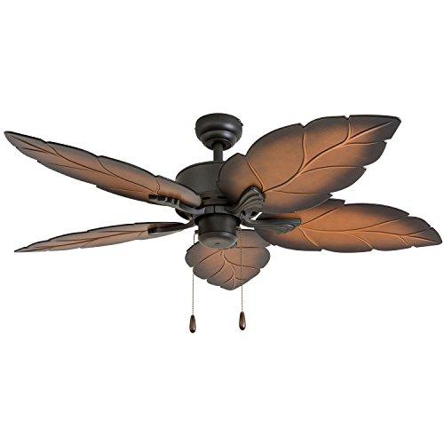 "Prominence Home 50571-01 Beauxregard Ceiling Fan, 52"", Mocha, Tropical Bronze"