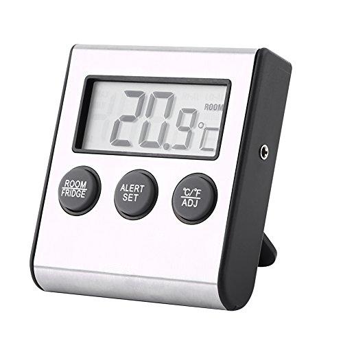Termómetro para refrigerador digital Termómetro para congelador con función de memoria y alarma de alta temperatura baja