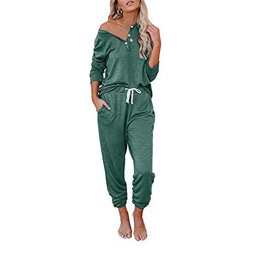 Chándal para Mujer Completo Camiseta Manga Larga y Pantalones Largos con Cordones...