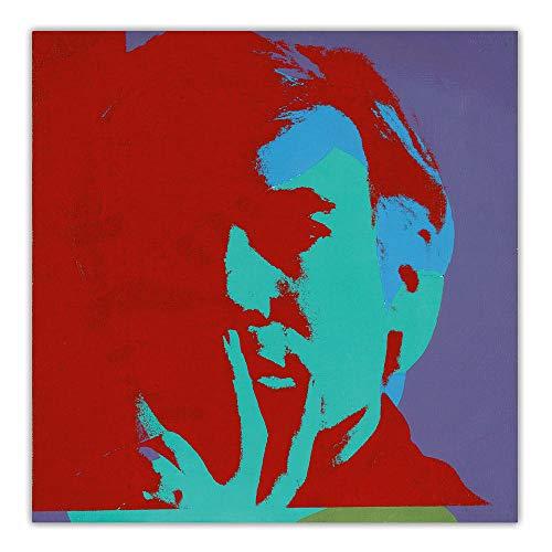 Andy Warhol 《Autorretrato》 PóSter ImpresióN Pop Arte Lienzo óLeo Pintura Colorido Pared Arte Cuadro Moderno Salon Pasillo Pared Decoracion 50x50cm No Marco