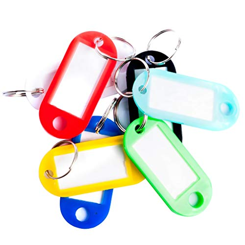30 Schlüsselanhänger zum Beschriften Schlüsselschilder Anhänger Etiketten