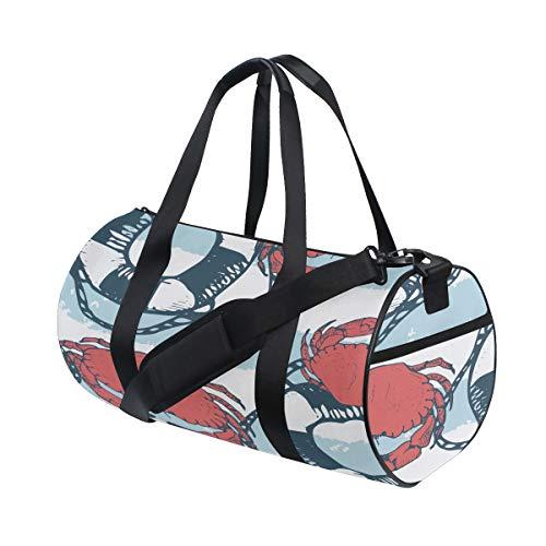 Ocean Seaf Underwater Cute Crab Benutzerdefinierte Multi Leichte Große Yoga Gym Totes Handtasche Reise Canvas Seesäcke mit Schulter Crossbody Fitness Sport Gepäck für Jungen Mädchen Herren Damen