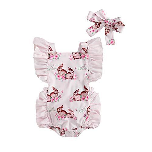 ChouZZ Mono de una pieza para recién nacido, para bebé, de Pascua, de 0 a 24 m